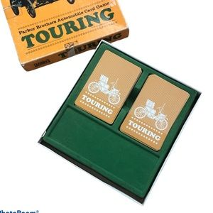 Rare Vintage Touring Racing Cars Parker Brothers Automobile Card Game